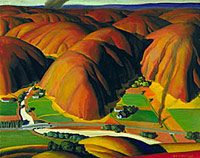 Ross Dickinson, Valley Farms, 1934,  Smithsonian American Art Museum