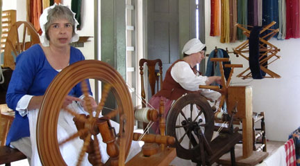 Photo, Weavers at Colonial Williamsburg, May 29, 2010, animalvegetable, Flickr