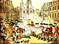 Paul Revere's etching of the Boston Massacre