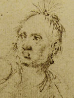 detail of sketch of Joseph Louis Cook by John Trumbull, 1785, Yale Art Gallery