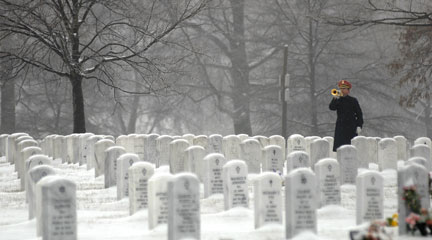 "Photo, ""Taps. . . at Arlington National Cemetery,"" 2009, Beverly & Pack, Flickr"