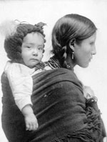 Photo, Woman from Plains with baby, c. 1901, Library of Congress