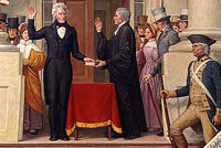 First capitol inauguration, 1829, Jackson
