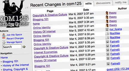 "Photo, ""COM125 Study Guide (wiki),"" March 15, 2007, inju, Flickr, cc"