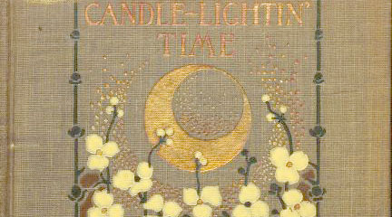 ook cover, Candle-Lightin' Time,  Paul Laurence Dunbar, Women Working, 1800-1930