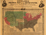 Map, Reynolds's Political Map of the United States, 1856, Wm. C. Reynolds, LOC G