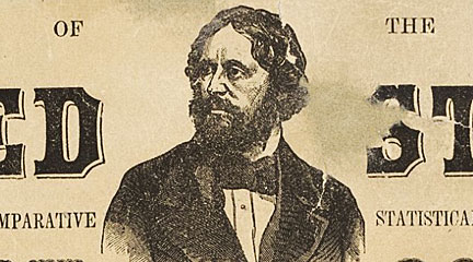 John Fremont, detail of his Political Chart of the United States