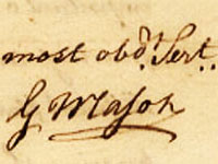Signature of George Mason