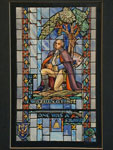 drawing, Design drawing for stained glass window showing George Washington, betw