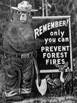 Photo,  Smokey Bear Fire Prevention sign along State Highway 70, Jul. 1960, NARA