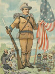 "chromolithograph, The flag must ""stay put"", 1902 June 4, John S. Pughe, LOC"