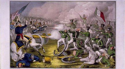 Lithograph, Battle of Buena Vista, 1847, Currier & Ives, LOC