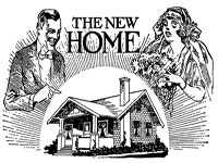 Home sales ad from pre-World War Two