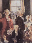 "Painting, Close up of ""Scene at the Signing of the Constitution of the United St"