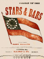 sheet music cover, origin of the stars and bars