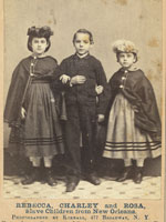 Rebecca, Charley and Rosa, Slave Children from New Orleans, Library of Congress.