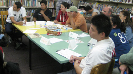 Photo, English club First meeting Dover Library, Sept. 13, 2010, RTLibrary