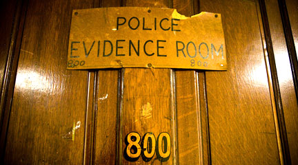 Photo, Police Evidence Room, November 14, 2008, th.omas, Flickr