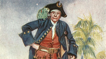 Cigarette card, Long John Silver, New York Public Library