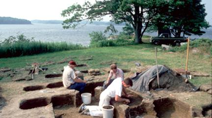Photo, Excavation of the Phips Plantation in Woolwich, Maine, 1986-2001...