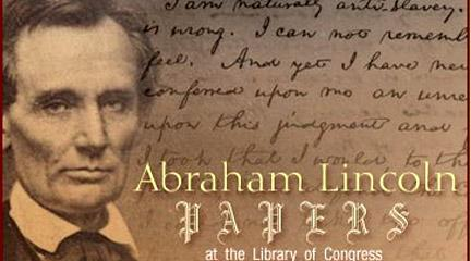 Image, Abraham Lincoln Papers: Home Page Graphic Captions, Library of Congress.