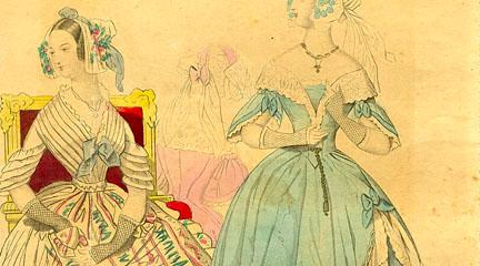 Illustration, Lady's Back Fashions for May 1840., May 1840, Godey's Lady's Book.