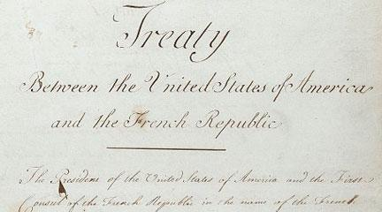 Louisiana Purchase Treaty, 1803, NARA