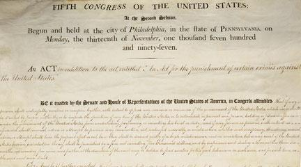 Documents, The Alien Act, July 6, 1798, National Archives