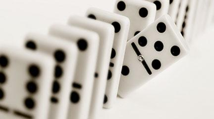 Photo, An impatient domino. Flickr