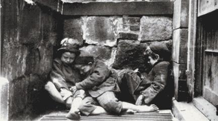 "Photo, ""Street Arabs in Sleeping...,"" Jacob A. Riis, c. 1880s, History Matters."