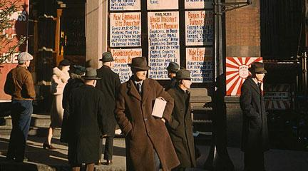 Photo, Headlines posted in street. . , 1940, Jack Delano, Flickr Commons