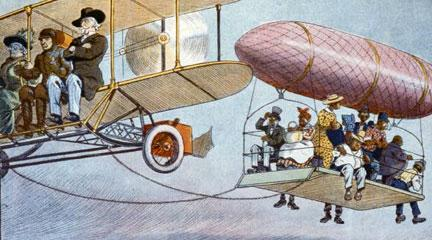 Print, For the Sunny South. An Airship. . . , 1913, Library of Congress