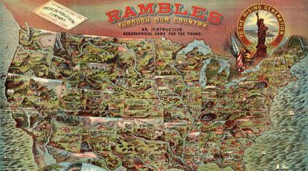 """Rambles. . . ,"" American Publishing Company, 1886, David Rumsey Map Coll."