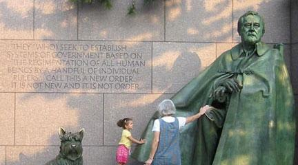 Screencapture, FDR Memorial, National Park Service homepage