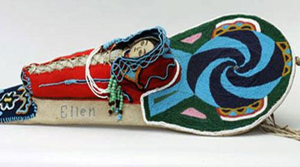Photo, Toy Cradleboard, Nez Perce National Historical Park, NEPE 1629