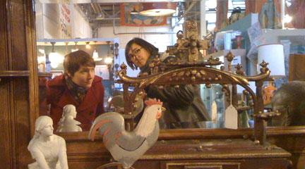 Photo, me & Jackie's antique shopping field trip, tray, 2010, Flickr