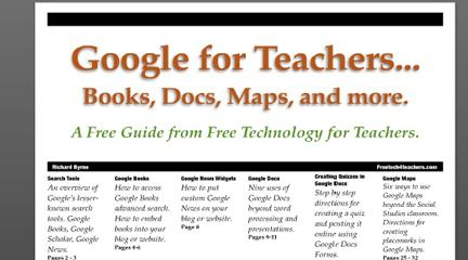 Free Technology for Teachers' guide to Google displayed in Yudu format
