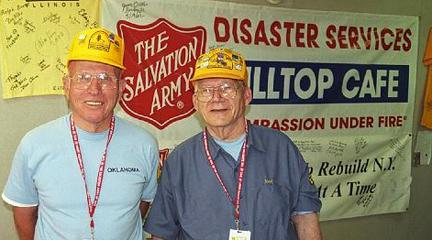 Photo, Salvation Army volunteers at the Hilltop Cafe, 2011, NY State Museum