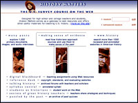 Image for History Matters: The U.S. Survey Course on the Web