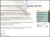 Image for Business Plan Archive