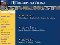 Image for Library of Virginia Digital Library Program