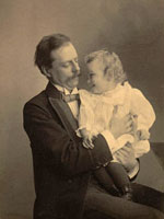 Photo, Edward Kellogg Dunham, Sr., with daughter Theodora, Wilhelm (?), 1897