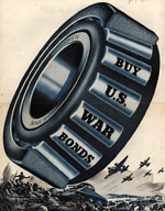 Image, Timken Roller Bearing Company ad supporting war bonds, 1943, Ad*Access