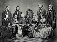 Photo, Picture of the Beecher family, Matthew Brady, c. 1850