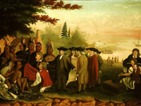 "Painting, ""Penn's Treaty with the Indians,"" Edward Hicks, c.1840-1844"