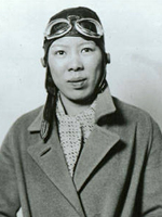 Photo, Leah Hing, ca. 1934, Pilot and WWII instrument mechanic, c. 1934, WSU