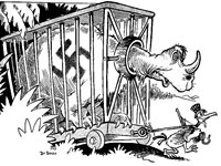 Cartoon, Cages cost money! Buy More U.S. Savings Bonds and Stamps!, c. WWII