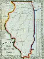 Map, D.B. Cooke & Co.'s railway guide for Illinois...