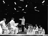 "Photo, ""Irving Fine conducting, Tanglewood, 1962,"" Whitestone"