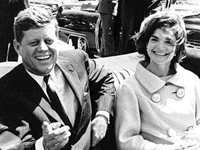 Photo, President and Mrs. Kennedy in motorcade, May 3, 1961